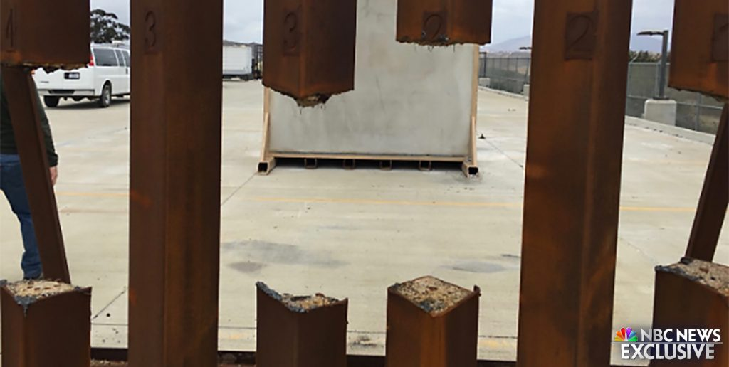 Foto20 Cerca serrada Protótipo de muro na fronteira com o México pode ser serrado