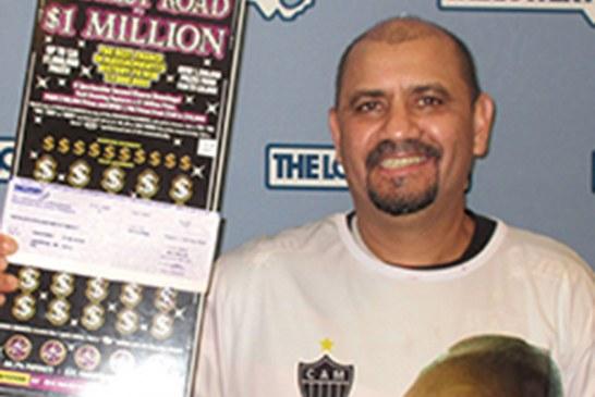 Brasileiro ganha US$ 1 milhão em raspadinha