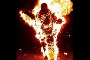 Homem em chamas