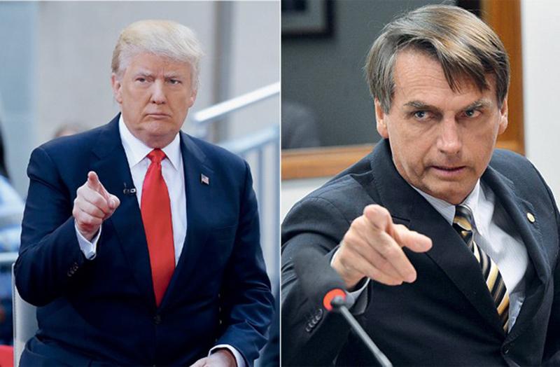 Foto12 Donald Trump e Jair Bolsonaro 1 Congresso brasileiro pode anular liberação de visto de para os EUA