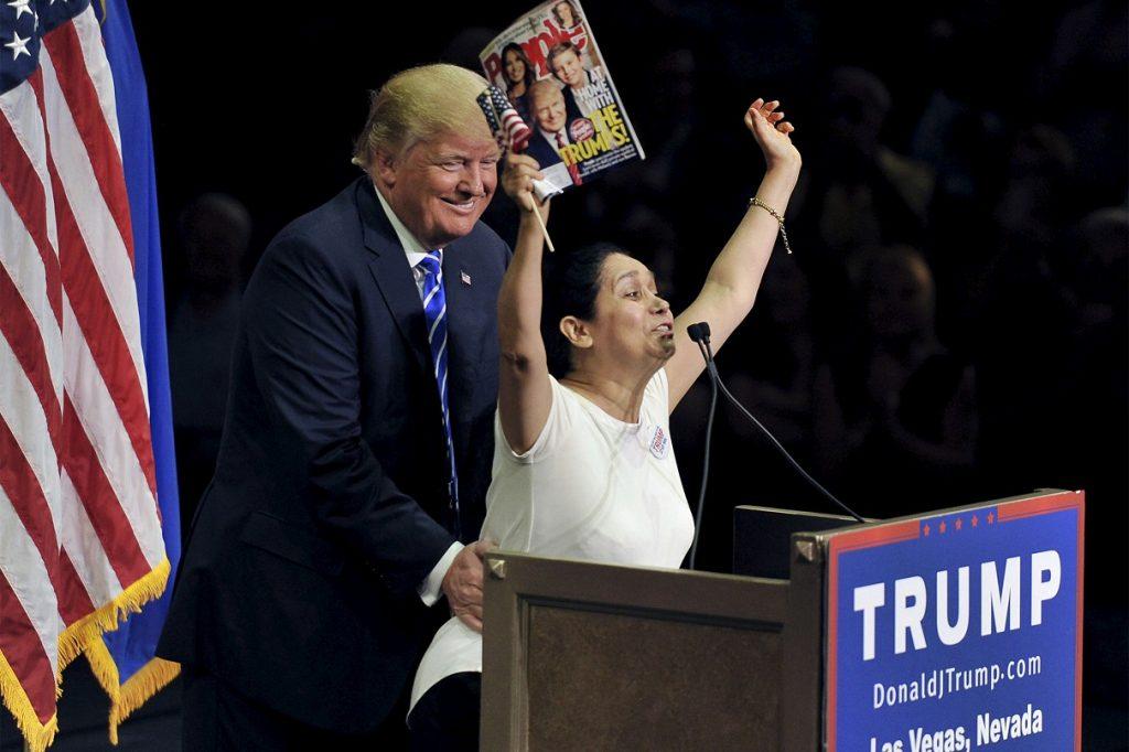Foto4 Donald Trump e Myriam Encanto Colombiana indocumentada que apoiou Trump é deportada