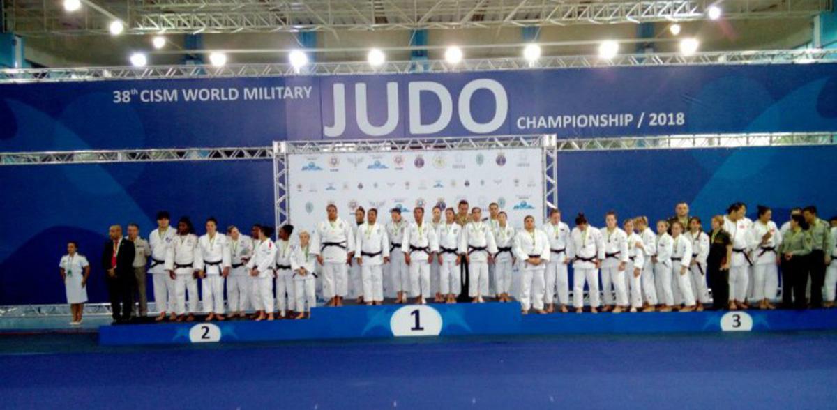 Foto5 Delegacao brasileira de judo Brasileiros vencem 38º Campeonato Mundial Militar de Judô