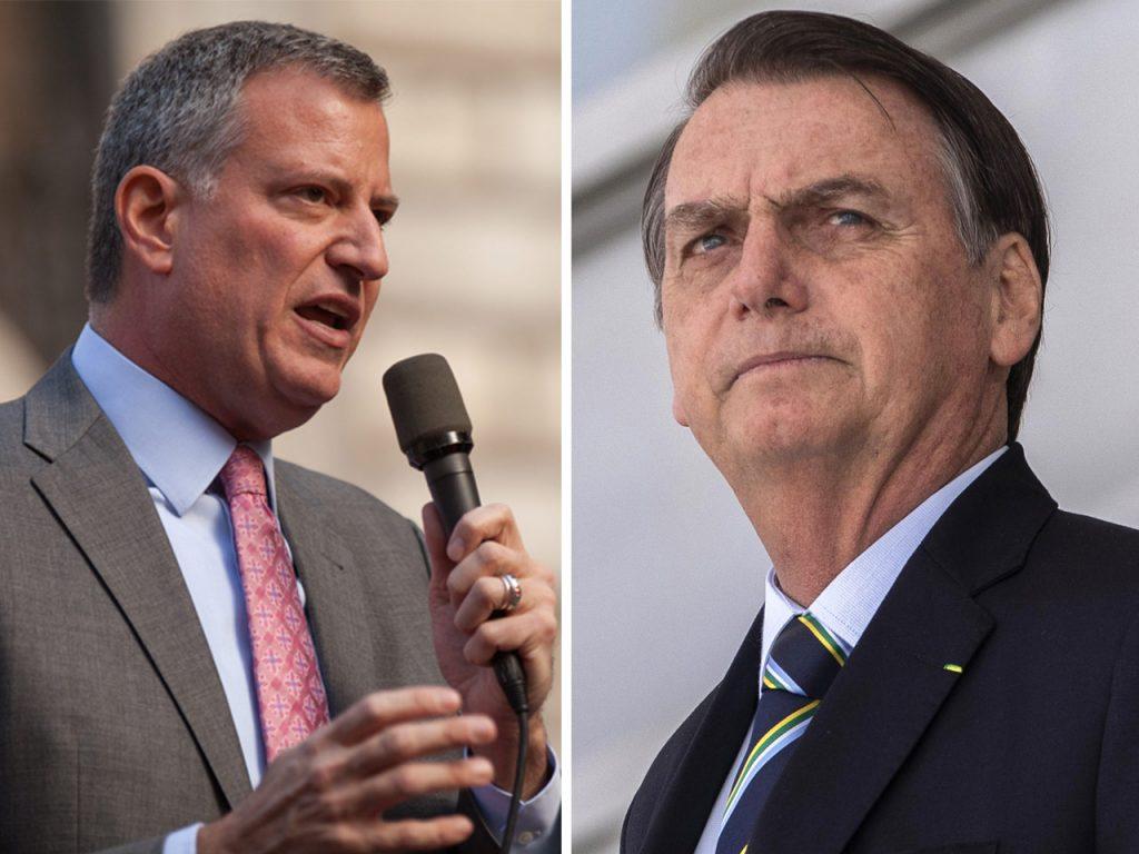 """jair Prefeito de Nova York chama Bolsonaro de """"ser humano perigoso"""""""
