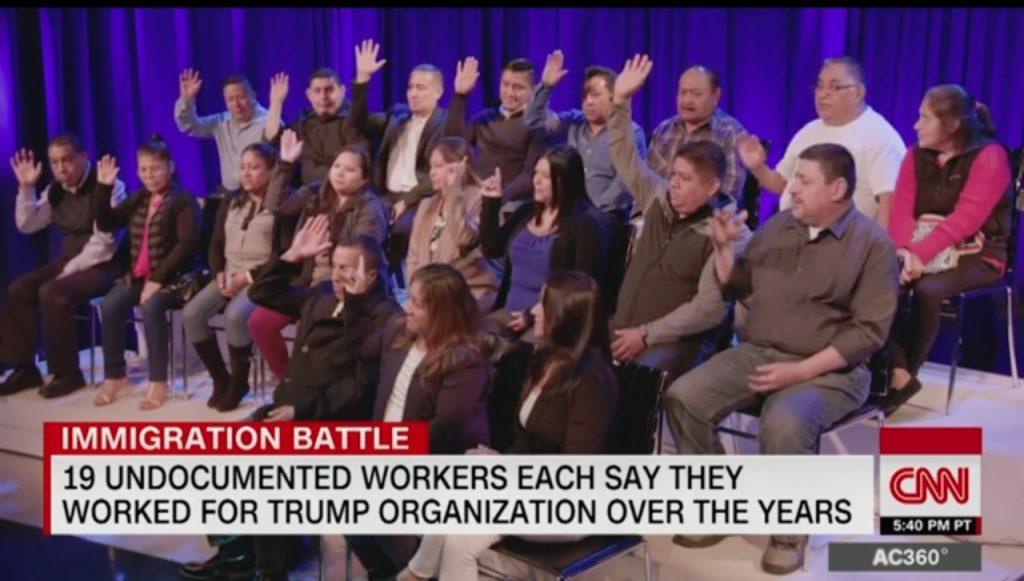 Foto16 Imigrantes indocumentados Emissora reúne 19 indocumentados que trabalharam para Trump
