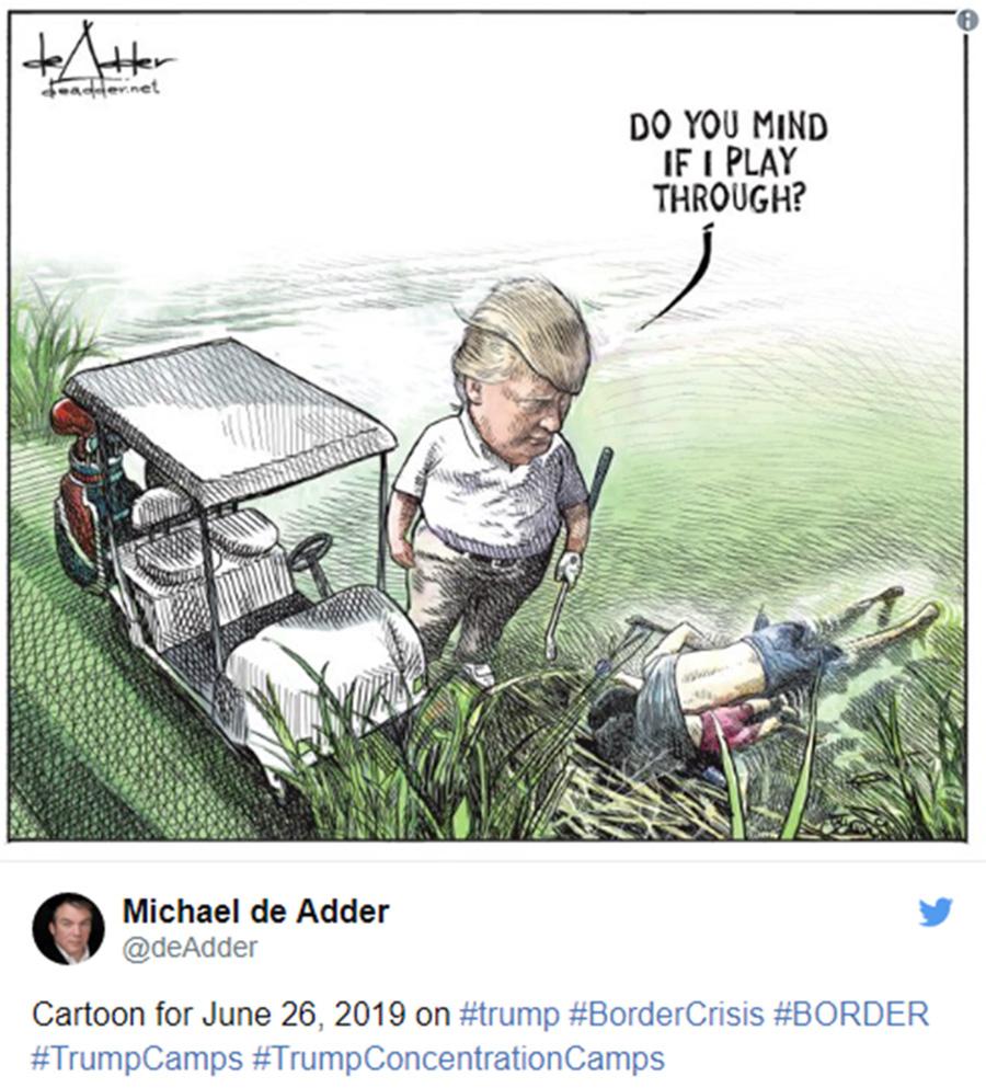 Cartunista E Demitido Por Desenhar Trump Jogando Golfe Ao Lado De