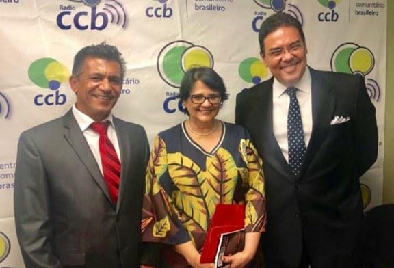 Na Flórida, Damares defende indicação de filho de Bolsonaro em Embaixada