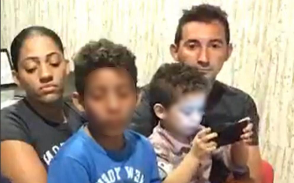 Foto7 Francisco Chiara Regina Alves e os filhos Família brasileira denuncia humilhação por compatriota vestido de soldado