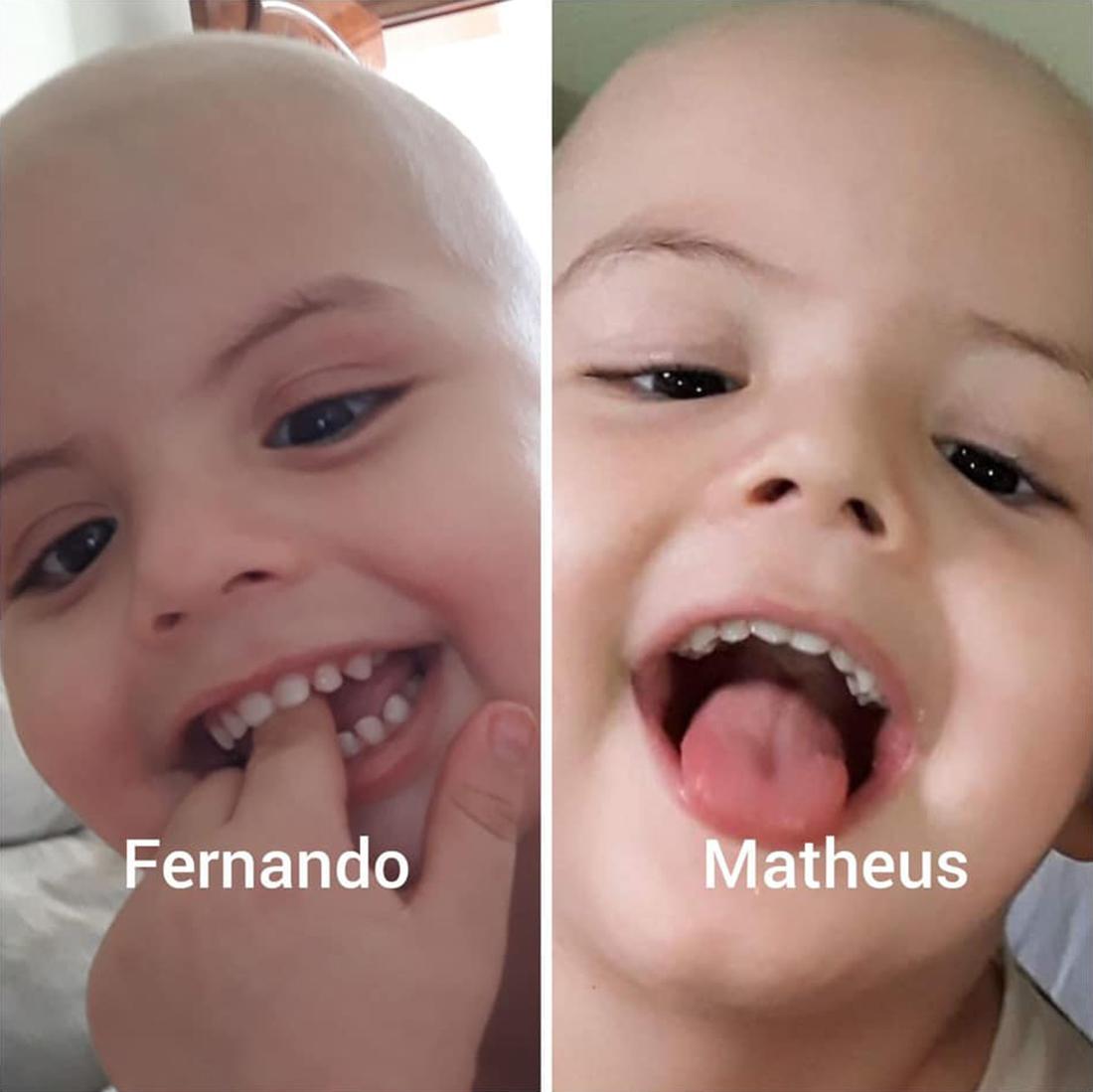 Foto9 Fernando e Matheus Após perder irmão gêmeo, brasileirinho busca doador de medula óssea