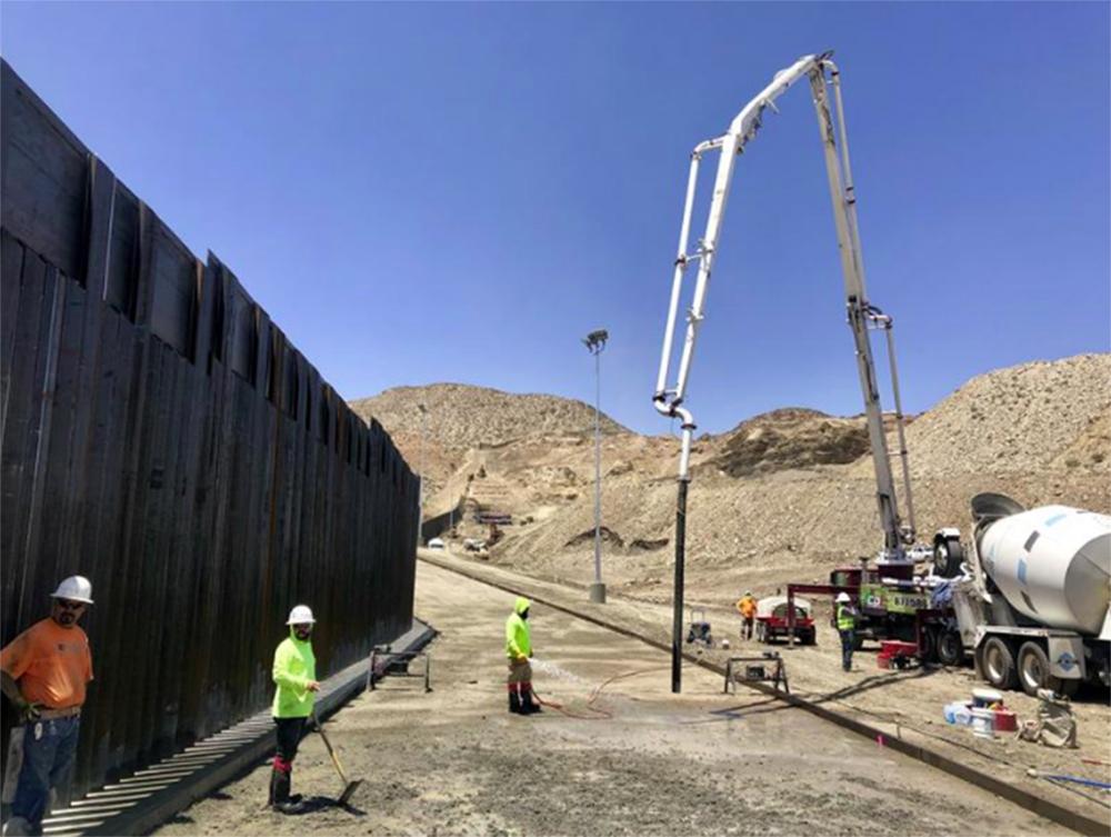 Foto7 Muro na fronteira  Vídeo mostra quilômetros de muro recém construído na fronteira com o México