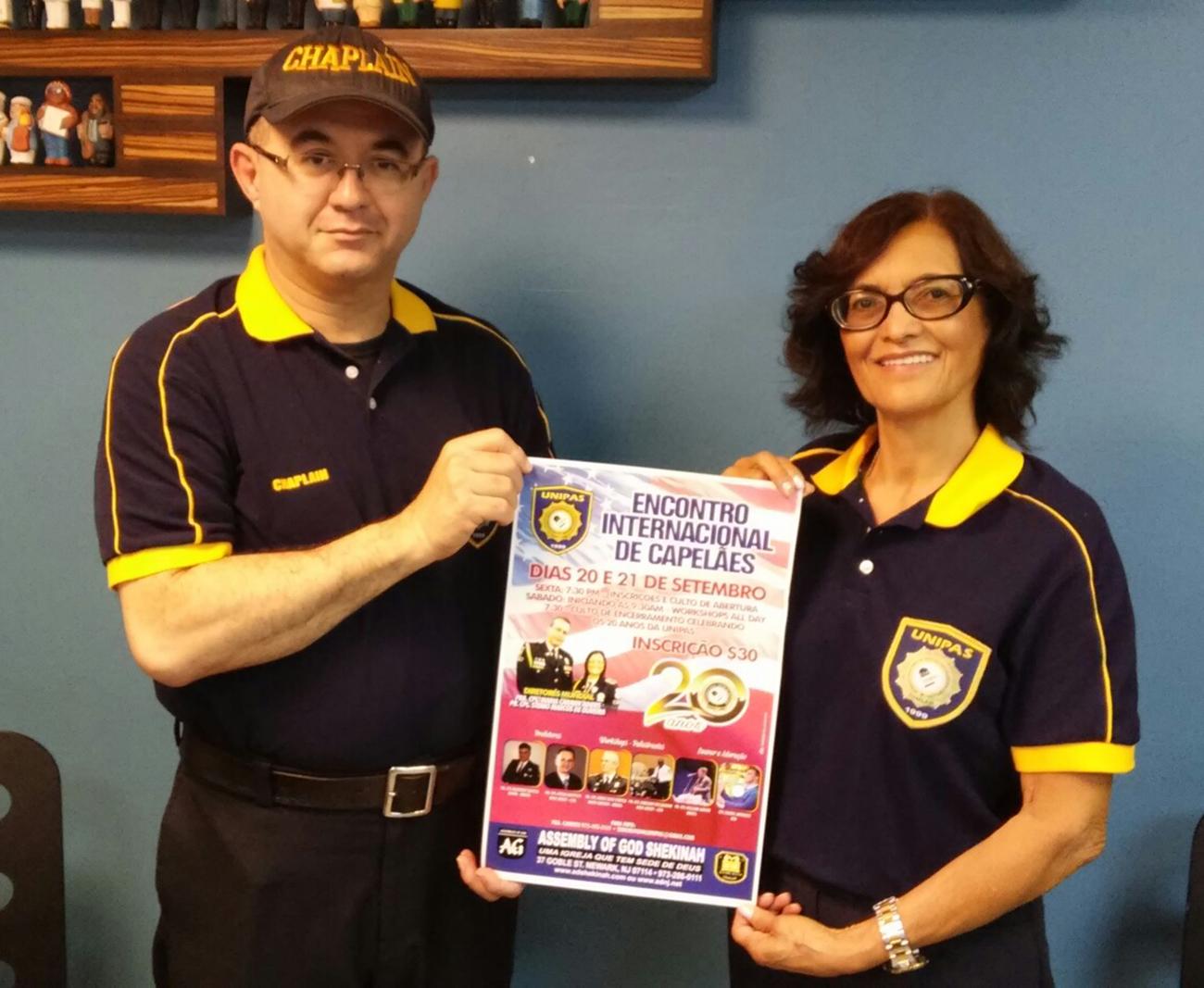 Foto21 Pastores Marco Antonio Aragao e Maria Carmen Adiers Encontro Internacional de Capelães acontecerá em Newark (NJ)