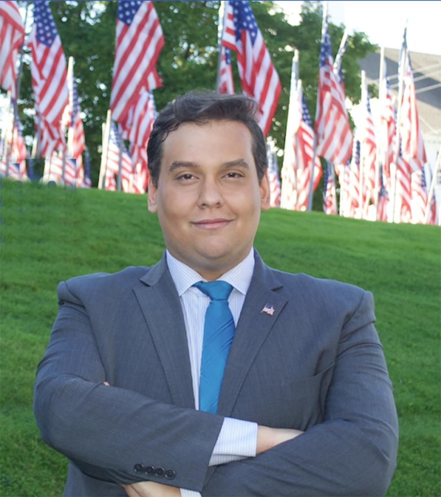 Foto2 George Anthony Devolder Santos Filho de brasileiros anuncia candidatura a deputado federal em NY
