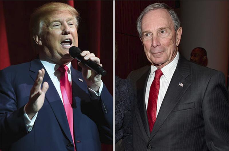 Foto11 Donald Trump e Michael Bloomberg Bloomberg e Trump brigam no Twitter sobre a disputa eleitoral