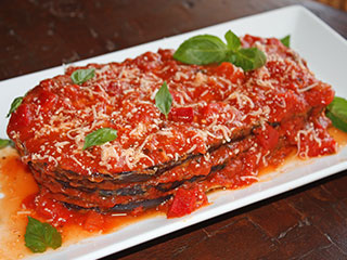 Berinjela com molho de Tomates