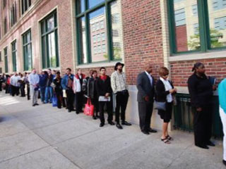 Índice de desemprego diminui nos EUA